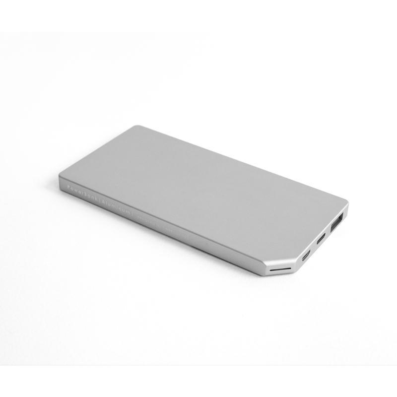 Allocacoc PowerBank Slim Aluminum 5000mAh; SILVER